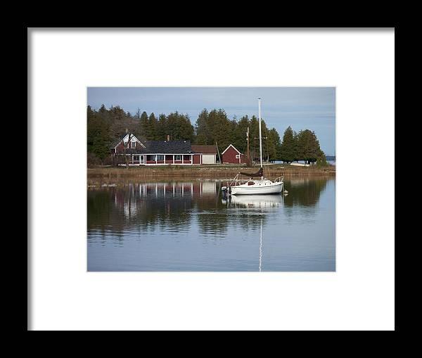 Washington Island Framed Print featuring the photograph Washington Island Harbor 4 by Anita Burgermeister
