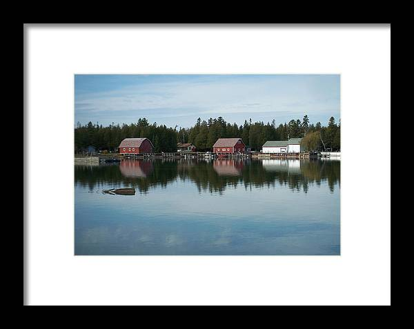 Washington Island Framed Print featuring the photograph Washington Island Harbor 5 by Anita Burgermeister