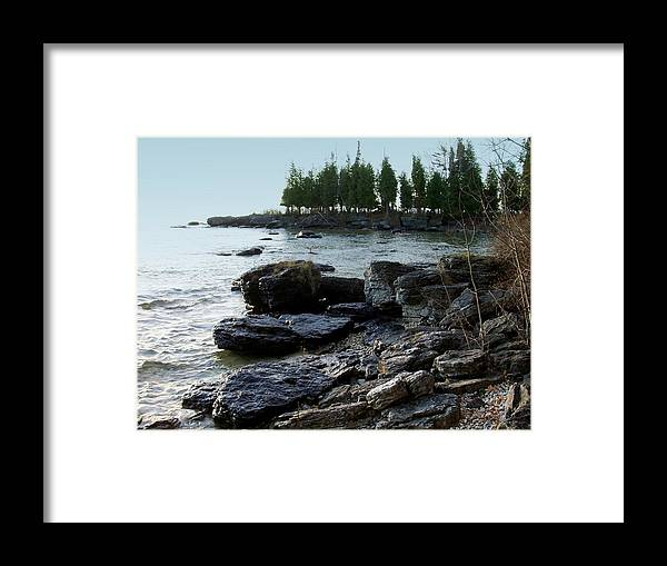 Washington Island Framed Print featuring the photograph Washington Island Shore 1 by Anita Burgermeister