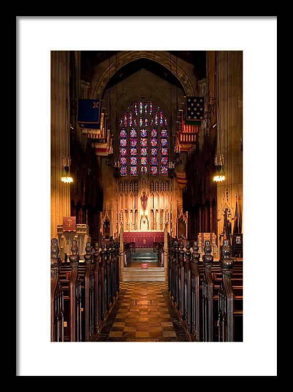 Washington Memorial Chapel Framed Print featuring the photograph Washington Memorial Chapel by Louis Dallara