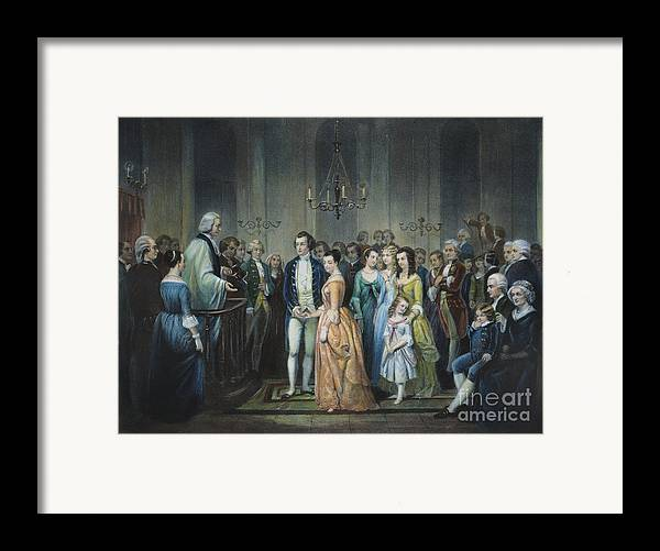 1759 Framed Print featuring the photograph Washingtons Marriage by Granger