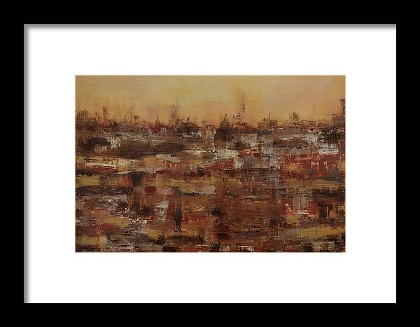 Canvas Print Framed Print featuring the painting Wasteland by K Batson Art