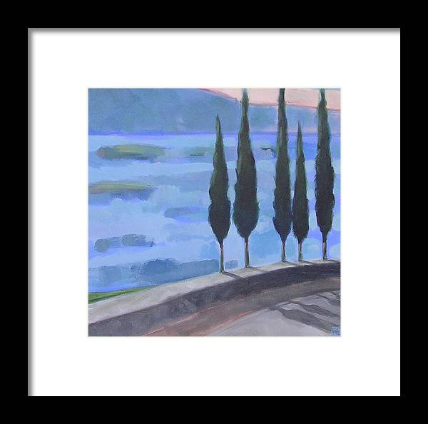 Landscpe Framed Print featuring the painting Watch by Mary Brooking