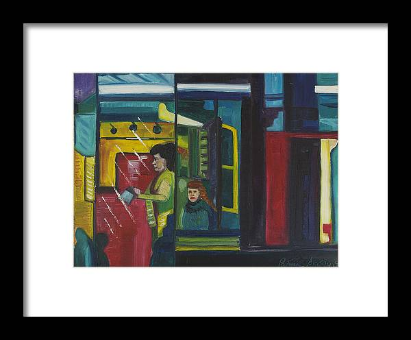 Abstract Framed Print featuring the painting Watch The Signs by Patricia Arroyo
