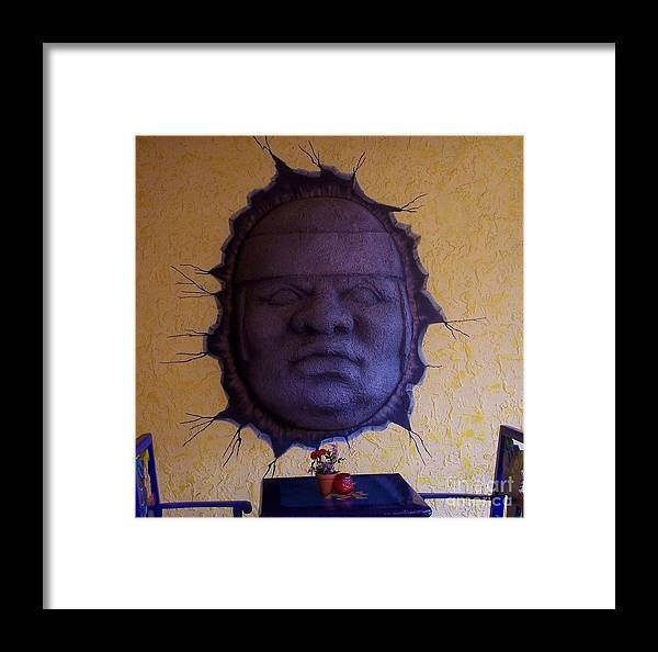 Face Framed Print featuring the photograph Watch What You Eat by Debbi Granruth