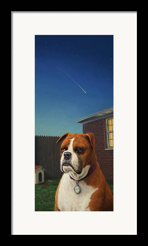 Watchdog Framed Print featuring the painting Watchdog by James W Johnson
