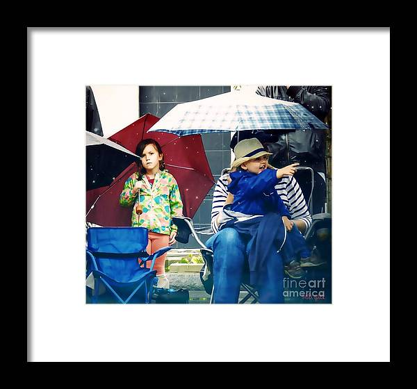 Art Framed Print featuring the photograph Watchers by Linda Galok