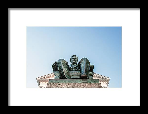 Abraham Lincoln Framed Print featuring the photograph Watchful Abe by Todd Klassy