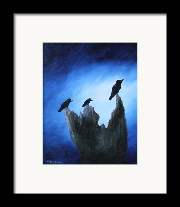 Birds Framed Print featuring the painting Watching For Company by Rebecca Fitchett