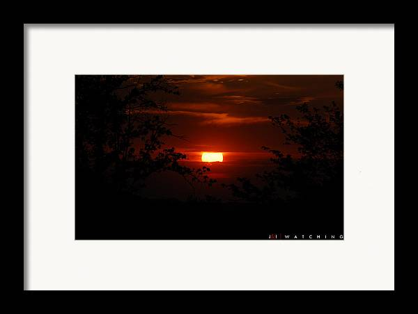 Landscape Framed Print featuring the photograph Watching by Jonathan Ellis Keys