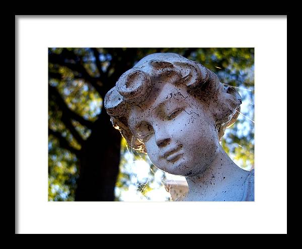 Statue Framed Print featuring the photograph Watching Over You by Alexandra Harrell