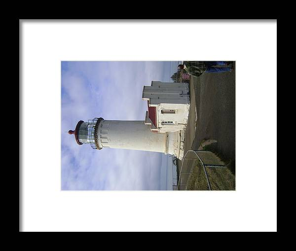Lighthouse Framed Print featuring the photograph Watching The Bay by ML Everhart