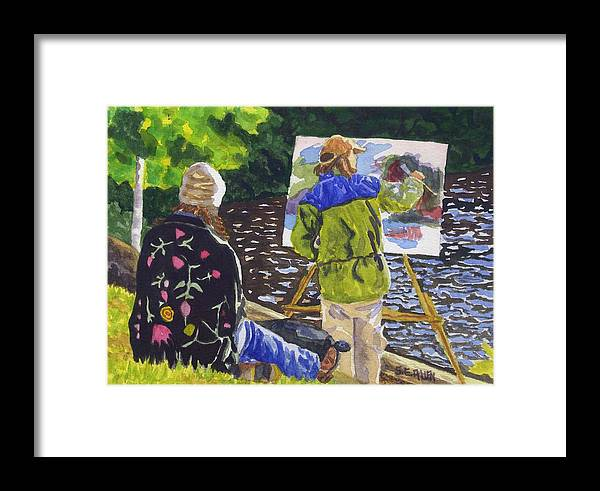 Artist Framed Print featuring the painting Watching The Maestro by Sharon E Allen