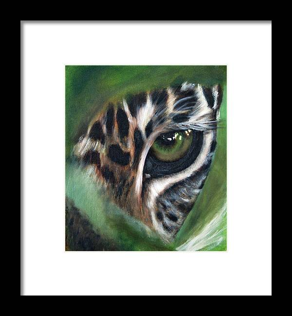 Animals Framed Print featuring the painting Watching you watching me by Fiona Jack