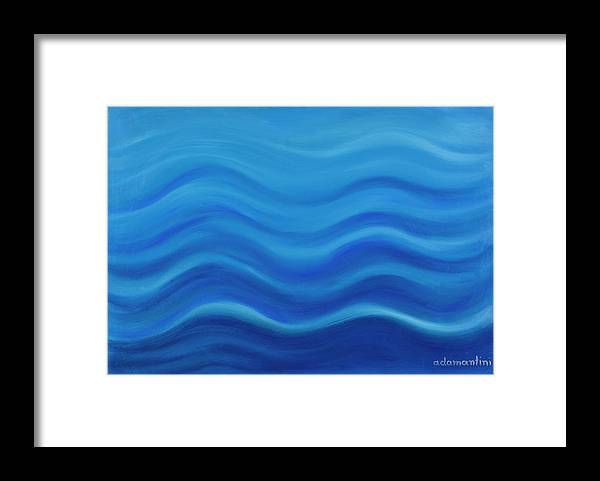 Water Framed Print featuring the painting Water by Adamantini Feng shui