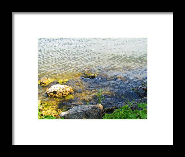 Photography Framed Print featuring the photograph Water And Earth by Jenna Graham