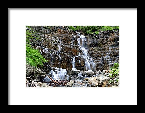 Landscape Framed Print featuring the photograph Water And Stone by Michael Morse