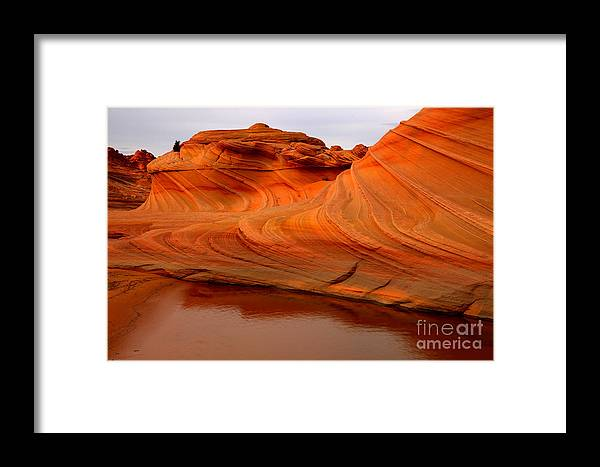 The Wave Framed Print featuring the photograph Water And The Wave by Adam Jewell