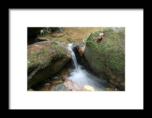 Waterfall Framed Print featuring the photograph Water At Work by Walt Reece