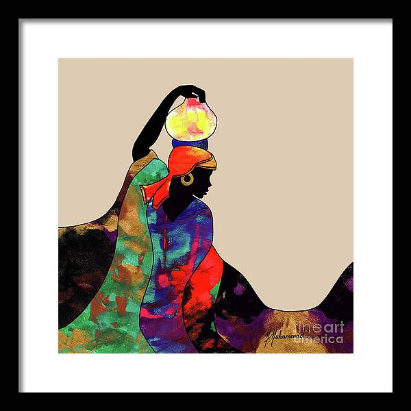 Lady Framed Print featuring the painting Water Bearer by Marcella Muhammad