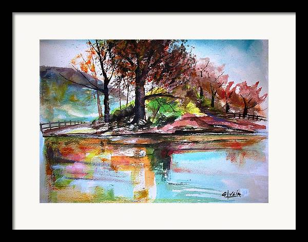Watercolor.print. Framed Print featuring the print Water Colors by Carl Lucia