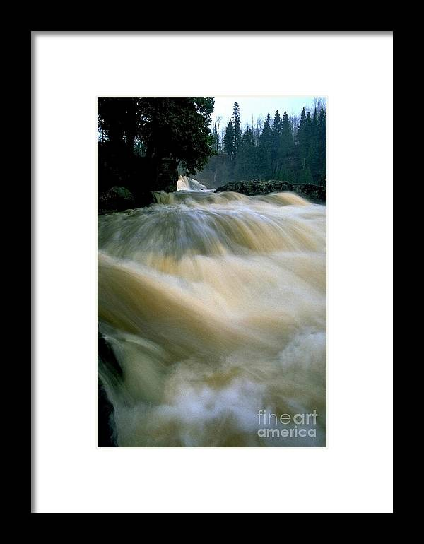 Water Framed Print featuring the photograph Water Coming Right At You by Sven Brogren