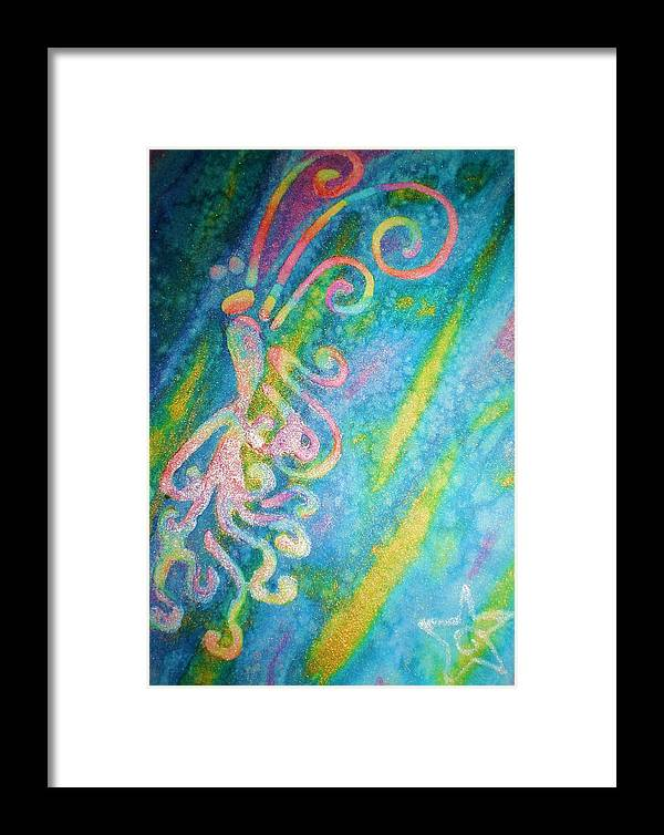 Rainbow Framed Print featuring the painting Water Fairy by Chandelle Hazen