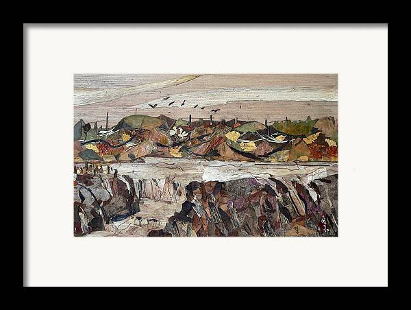 Water Fall.river Fall Framed Print featuring the mixed media Water Fall by basant Soni