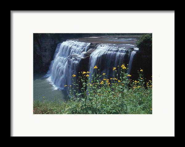 Waterfalls Framed Print featuring the photograph Water Falls by Raju Alagawadi