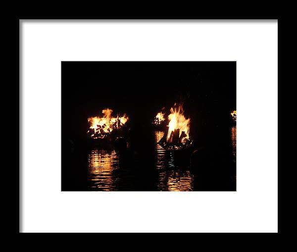 Water Fire Framed Print featuring the photograph Water Fire by Jeff Porter