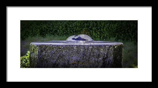 Fountain Framed Print featuring the photograph Water For The Lost by Vincent Asbjornsen