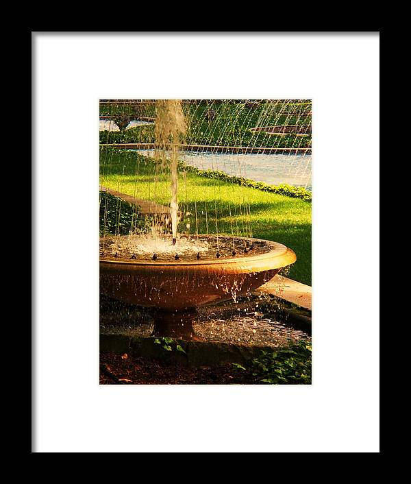 Landscape Framed Print featuring the photograph Water Fountain Garden by Eric Schiabor