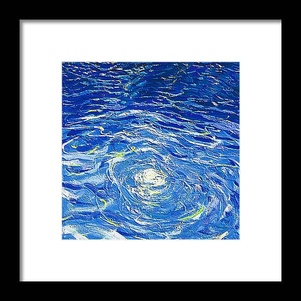 Pool Framed Print featuring the mixed media Water In The Pool by Dragica Micki Fortuna