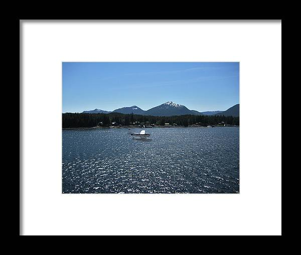 Seaplane Framed Print featuring the photograph Water Landing by Lori Tambakis