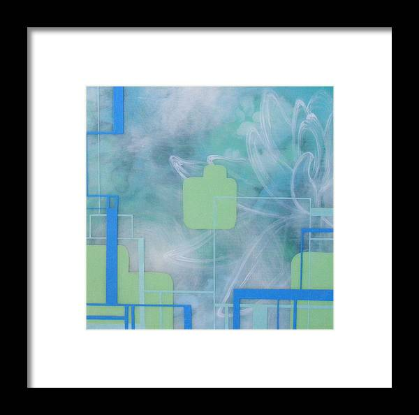 Water Lily Framed Print featuring the painting Water Lily by Monica James
