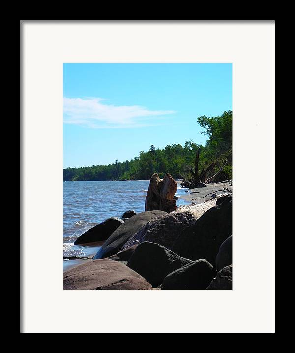 Beach Framed Print featuring the photograph Water On The Rocks by Peter Mowry