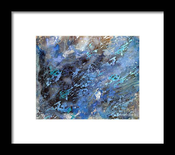Black Framed Print featuring the painting Water Splatter Again by Michelle Teague