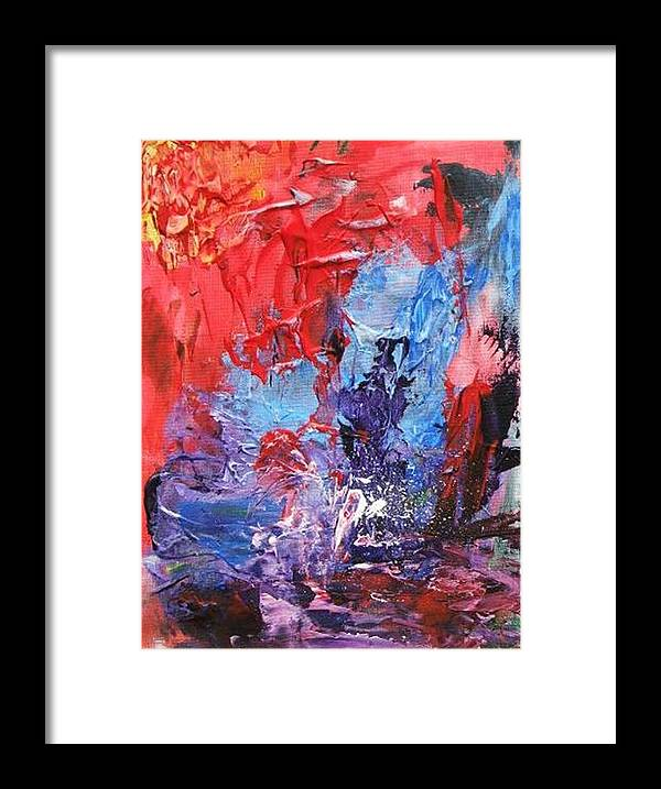 Water Framed Print featuring the painting Water Sport by Bruce Combs - REACH BEYOND