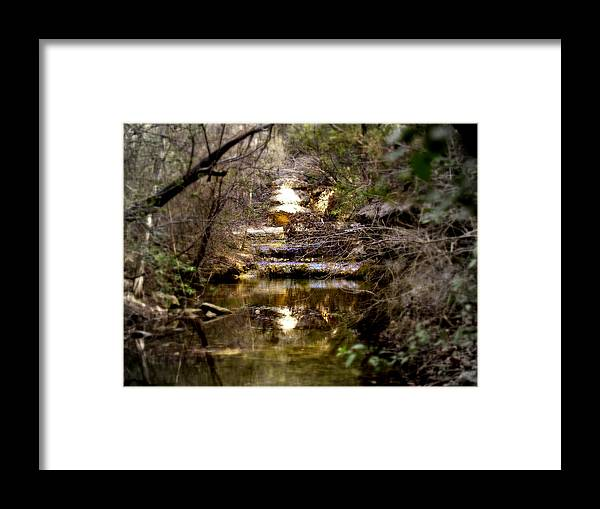 Landscape Framed Print featuring the photograph Water Stairs by James Granberry