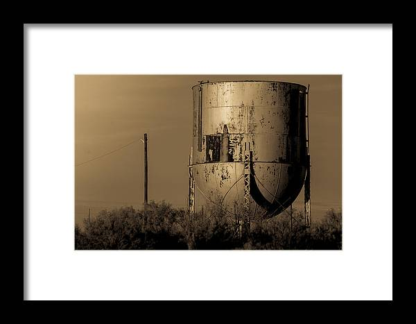 Water Framed Print featuring the photograph Water Tank by Paul Gibson
