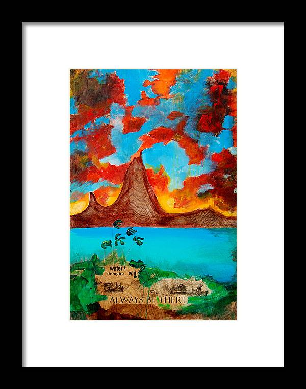 Sunset Framed Print featuring the painting Water Thoughts Will Always Be There by Nathan Paul Gibbs