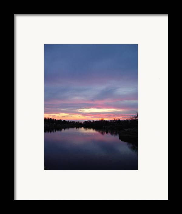 Landscape Framed Print featuring the photograph Water To Water by Chad Natti