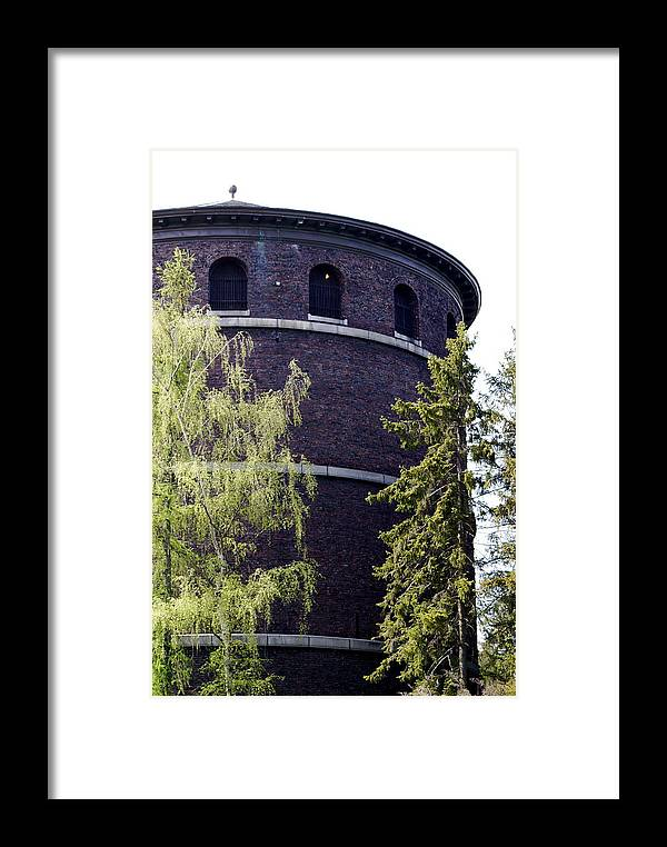 Historic Water Tower Framed Print featuring the photograph Water Tower by Sonja Anderson