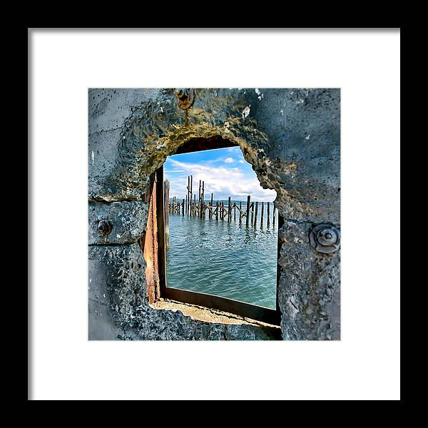Water Framed Print featuring the photograph Water Window by Joshua Fischl
