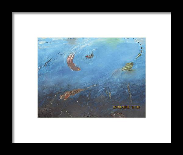 Water World Framed Print featuring the painting Water World by Anusha Garg