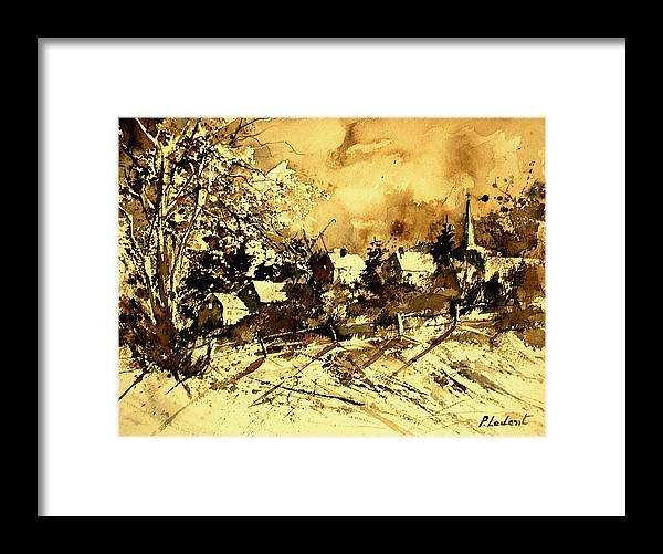 Framed Print featuring the painting Watercolor 01 by Pol Ledent