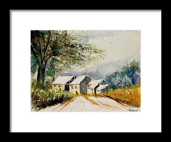 Landscape Framed Print featuring the painting Watercolor 010708 by Pol Ledent