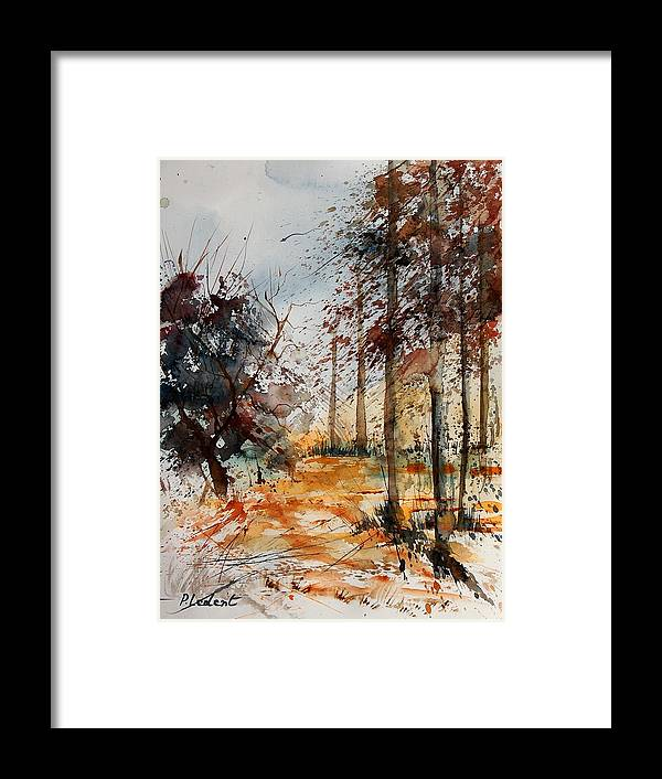Tree Framed Print featuring the painting Watercolor 040902 by Pol Ledent