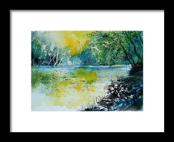 Pond Framed Print featuring the painting Watercolor 051108 by Pol Ledent