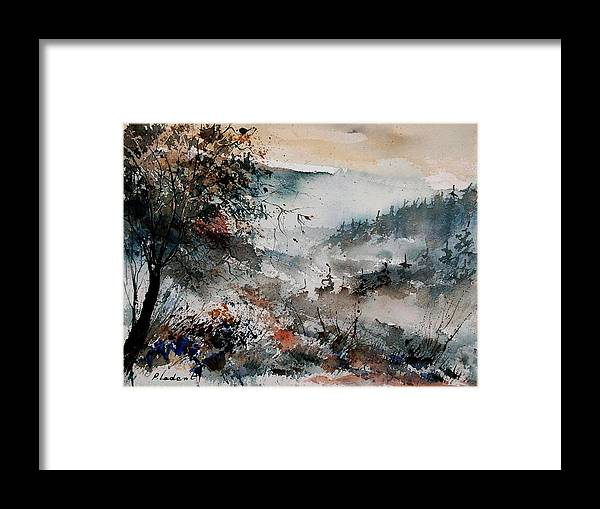 Winter Framed Print featuring the painting Watercolor 081108 by Pol Ledent